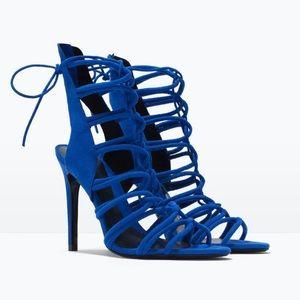 Zara High Heel Strappy Slingback Sandals